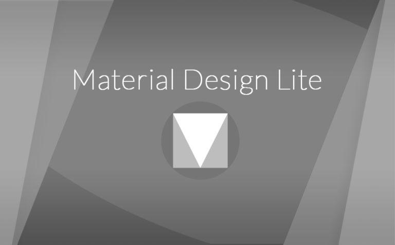 Introduction à Material Design Lite